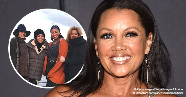 Vanessa Williams shares photo with her 3 look-alike daughters while in Brooklyn