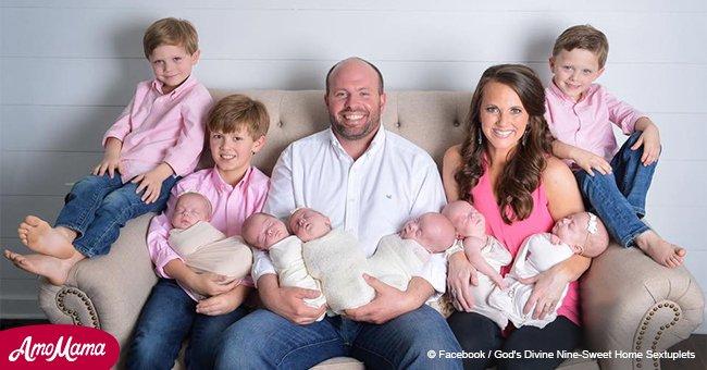 Increíble historia de afortunada pareja que quería un cuarto hijo pero terminó con 6 más