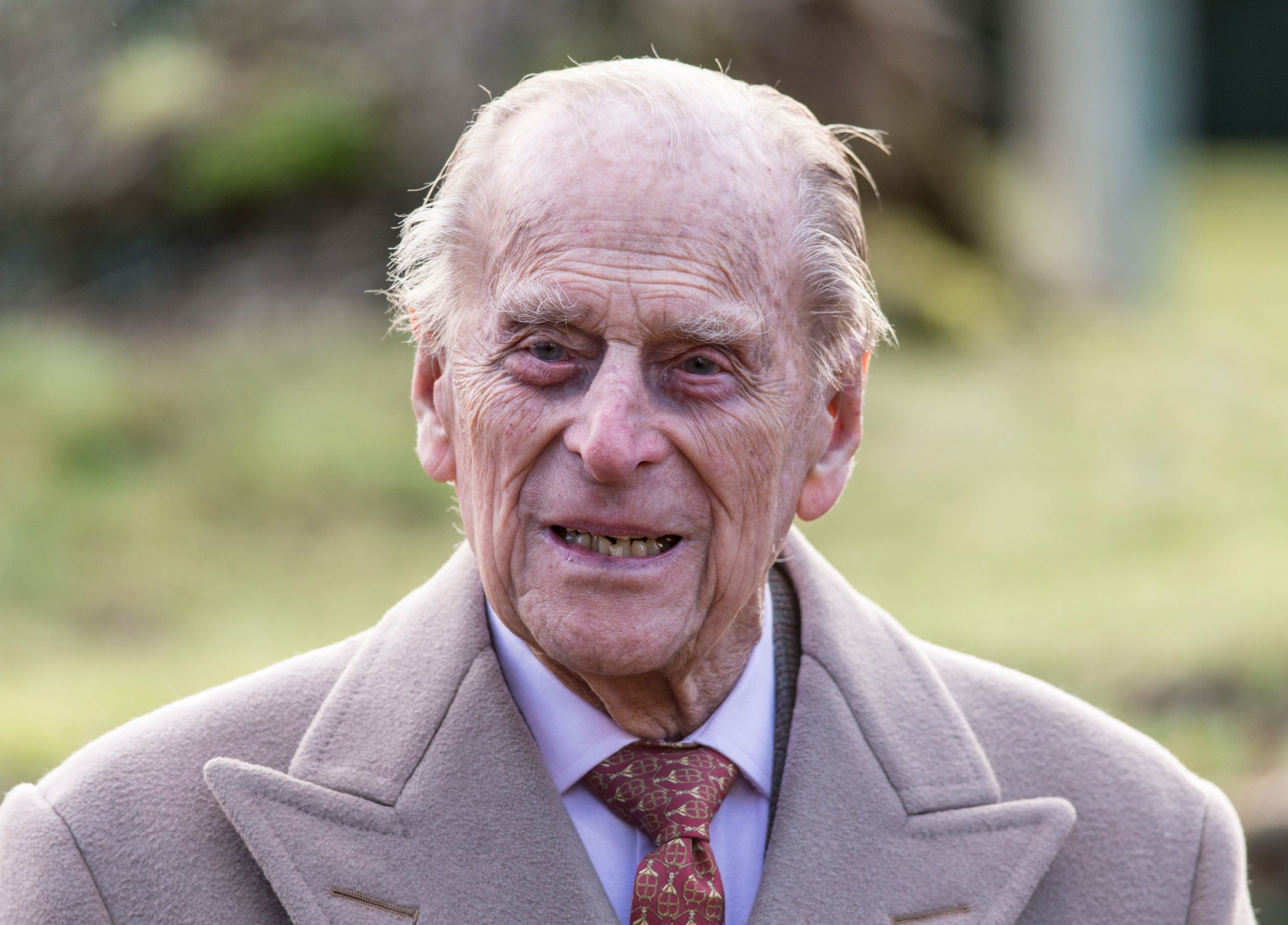 Prince Philip at Sunday Service at St Peter and St Paul Church in West Newton on February 4, 2018   Photo: Getty Images