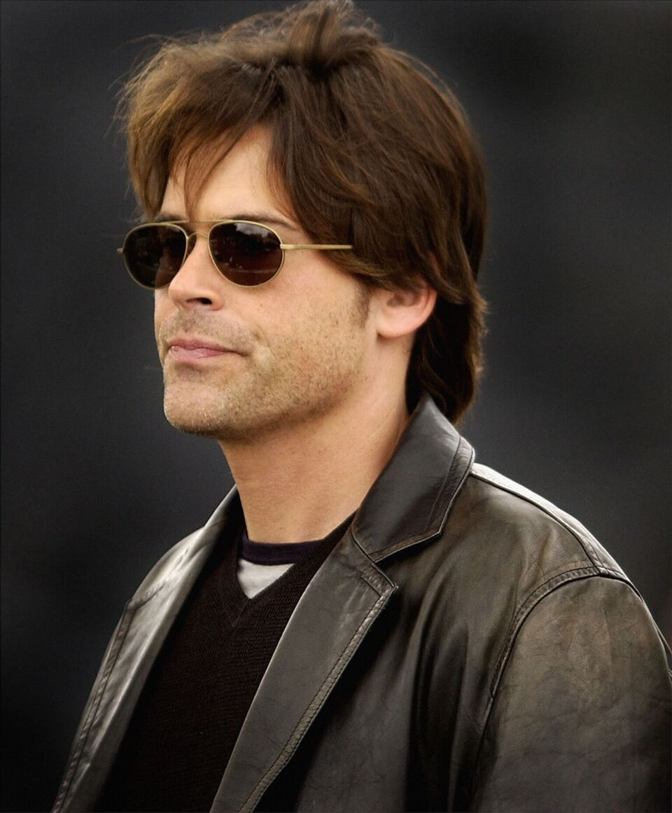 Rob Lowe appears on the set during the shooting of the mini-series 'Salems Lot.'   Source: Getty Images