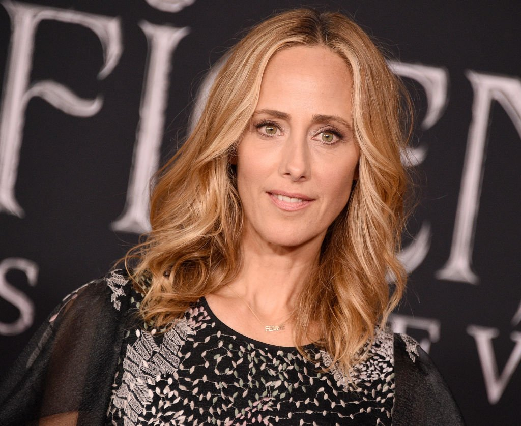 """Kim Raver arrives at the World Premiere Of Disney's """"Maleficent: Mistress Of Evil"""" at El Capitan Theatre on September 30, 2019 
