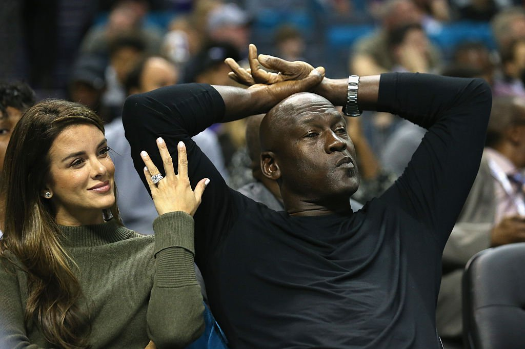 Yvette Prieto and Michael Jordan sit courtside during the Charlotte Hornets game against the Atlanta Hawks at the Time Warner Cable Arena on November 1, 201,5 in Charlotte, North Carolina   Source: Streeter Lecka/Getty Images