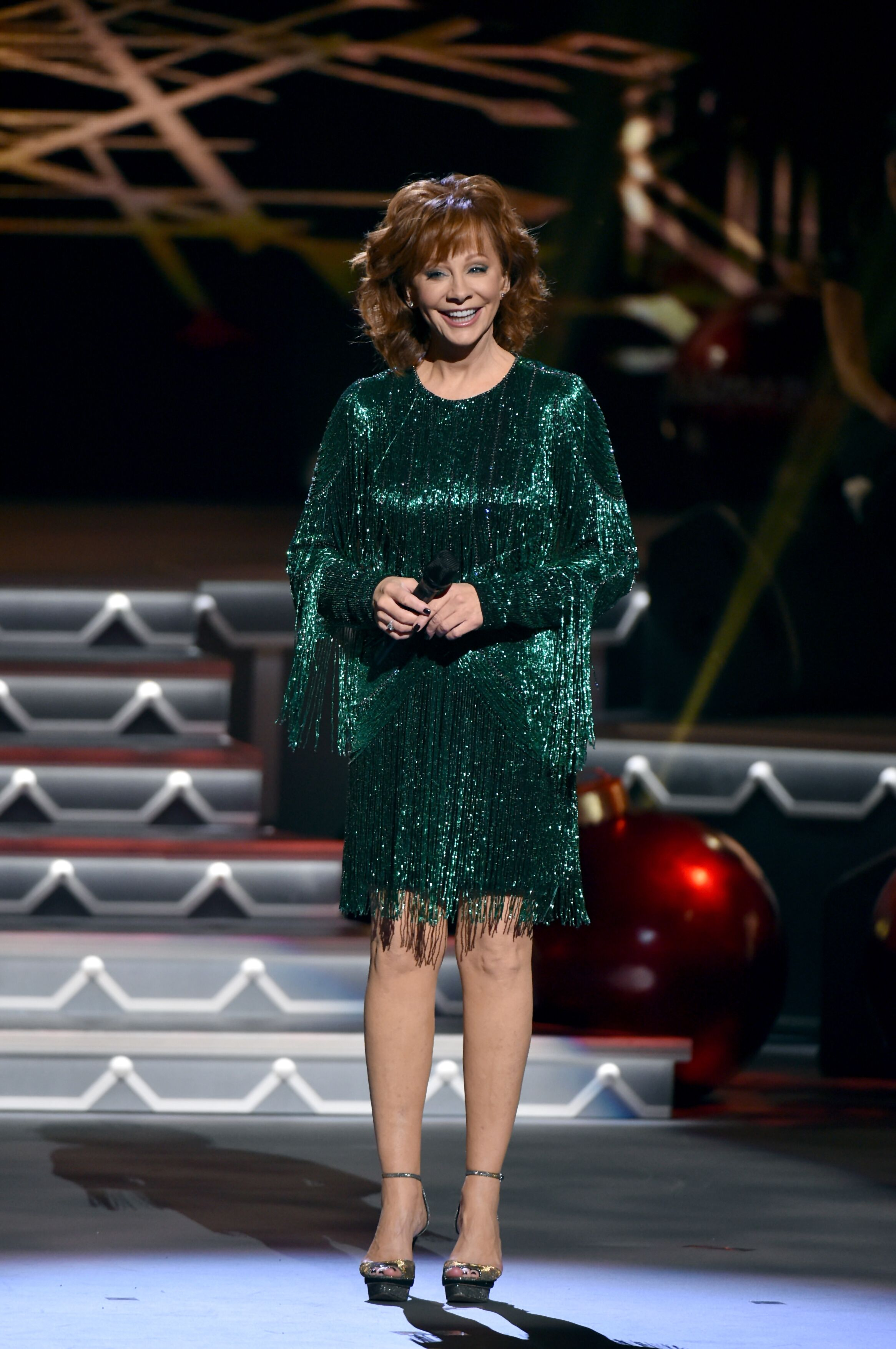 Reba McEntire performs onstage for CMA 2017 Country Christmas at The Grand Ole Opry  | Getty Images