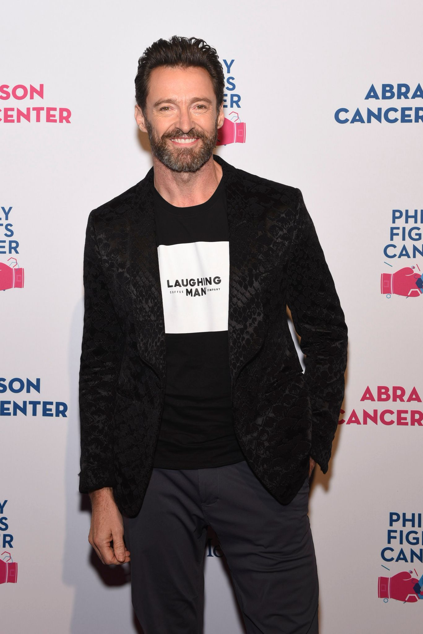 Hugh Jackman at the Philly Fights Cancer: Round 5 Event benefiting Penn Medicine's Abramson Cancer Center at the Philadelphia Navy Yard on October 26, 2019 in Philadelphia, Pennsylvania | Photo: Getty Images