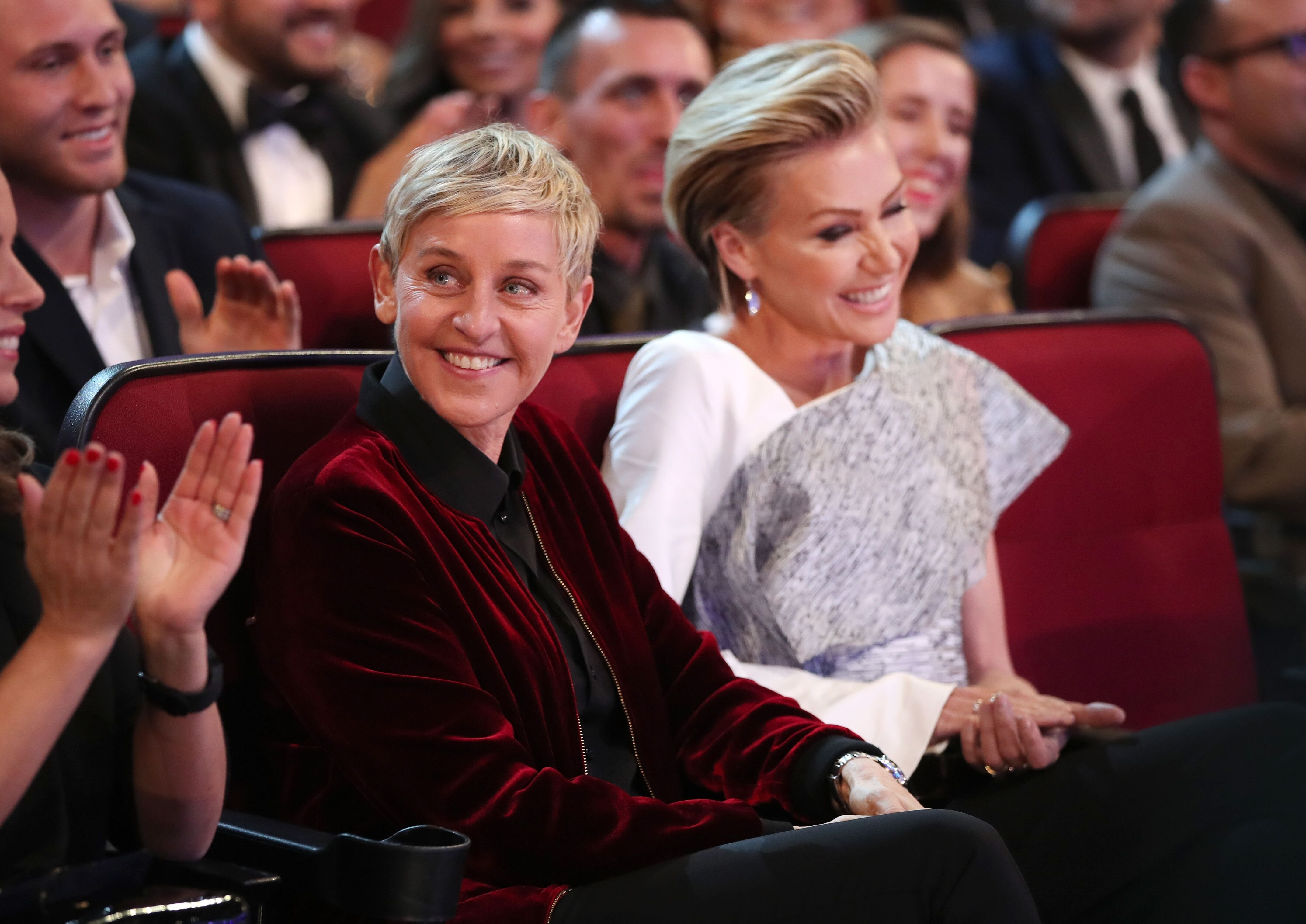 Ellen DeGeneres and  Portia de Rossi at the People's Choice Awards 2017   Source: Getty Images