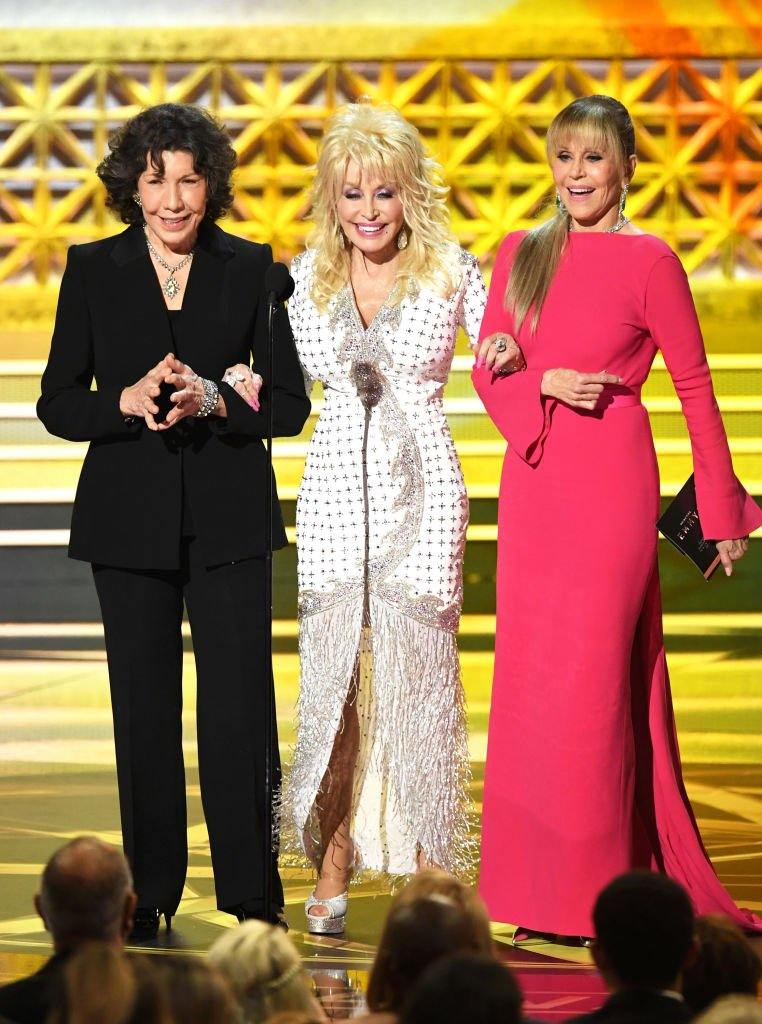 Lily Tomlin, Dolly, Jane Fonda. Image Credit: Getty Images