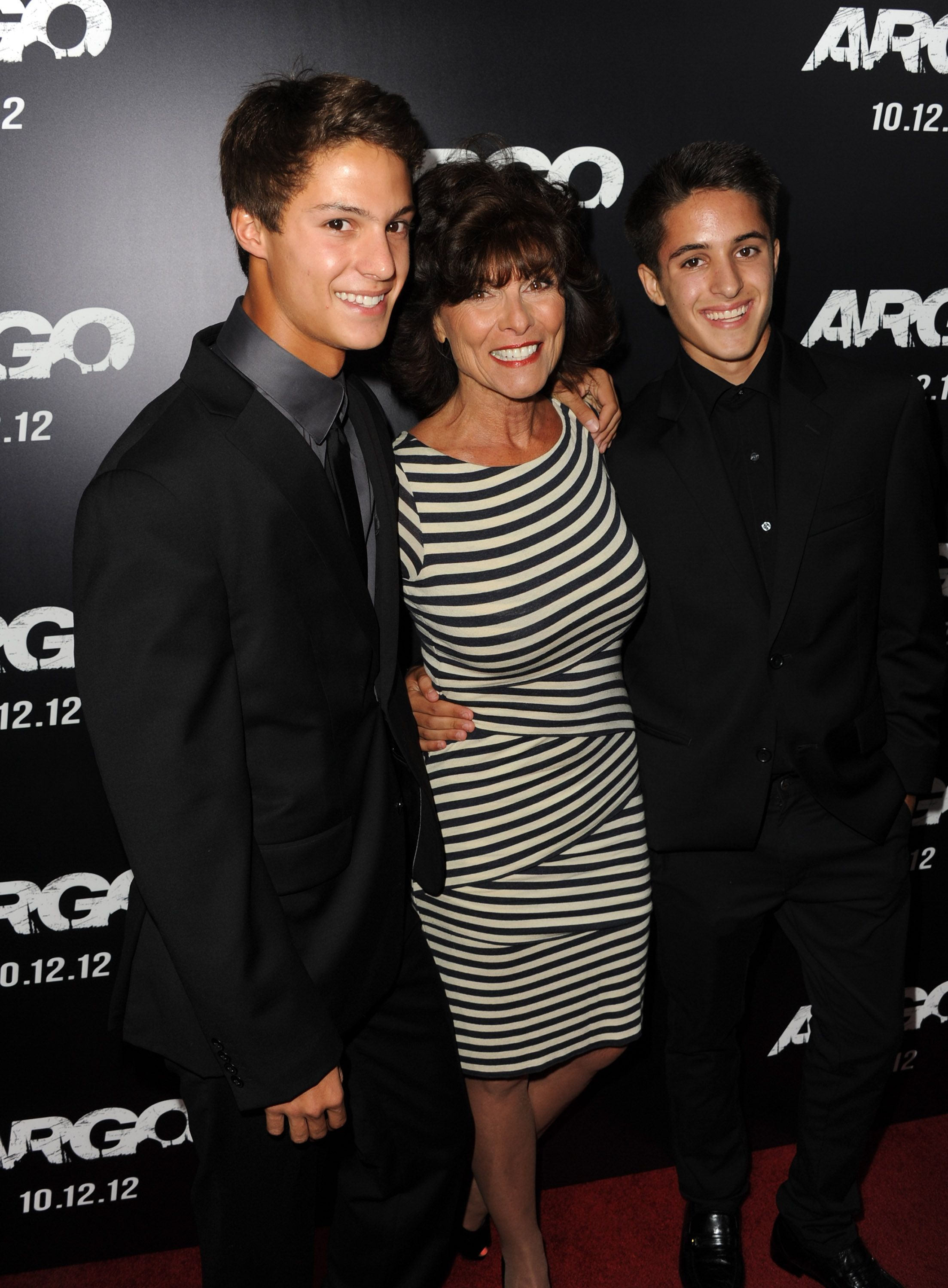 Adrienne Barbeau with William and Walker at AMPAS Samuel Goldwyn Theater on October 4, 2012 in Beverly Hills, California. | Photo: Getty Images