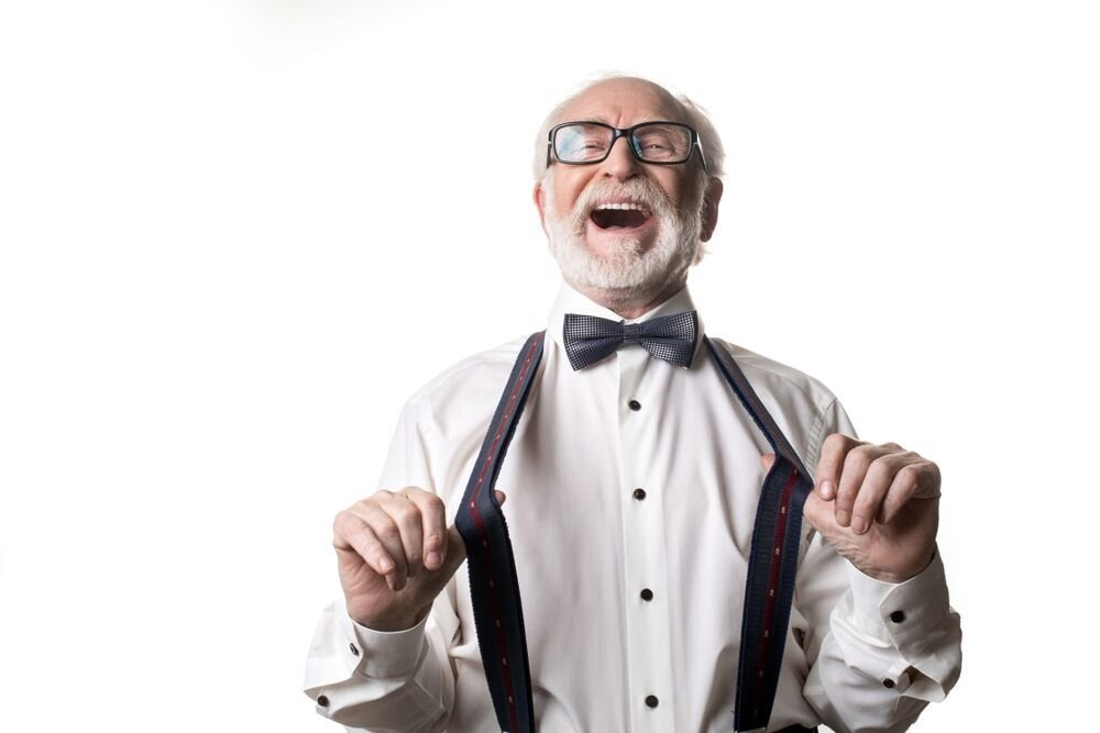 Un vieil homme hilare. l Source: Shutterstock