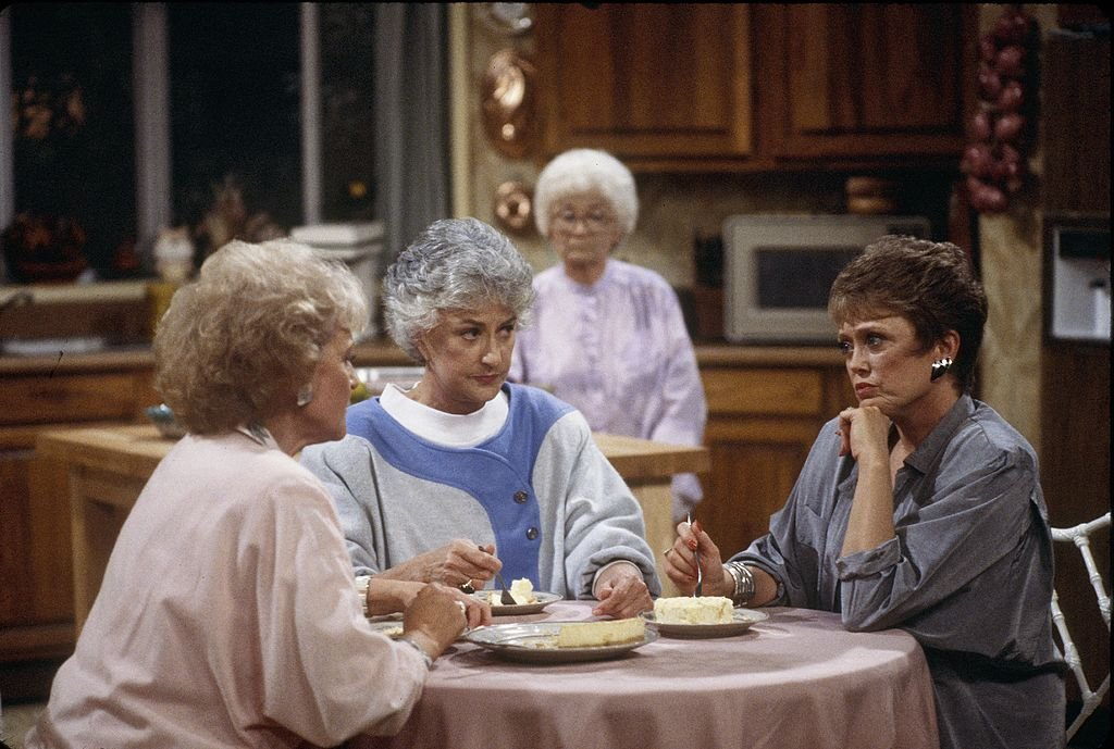 Betty White, Bea Arthur, Estelle Getty, and Rue McClanahan in The Golden Girls | Source: Getty Images
