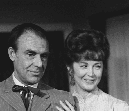 """Richard Bull as Nelson """"Nels"""" Oleson, Suzanne Rogers as Molly Reardon on """"Little House on the Prairie""""   Source: Getty Images"""
