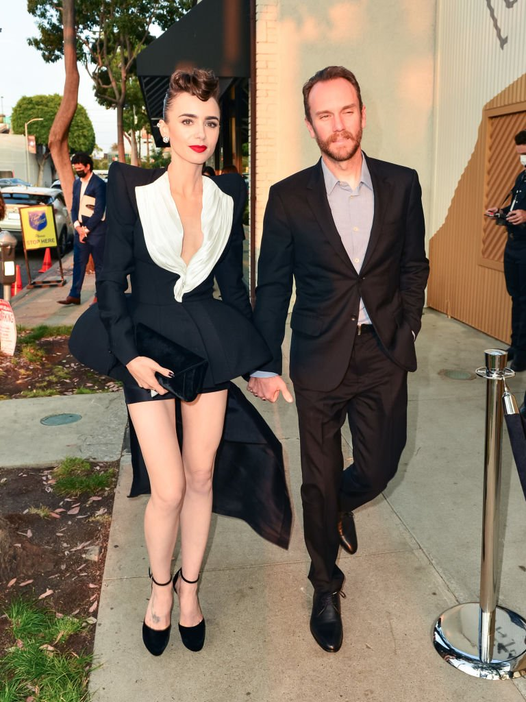 Lily Collins and Charlie McDowell are seen on August 24, 2021 in Los Angeles, California | Photo: Getty Images