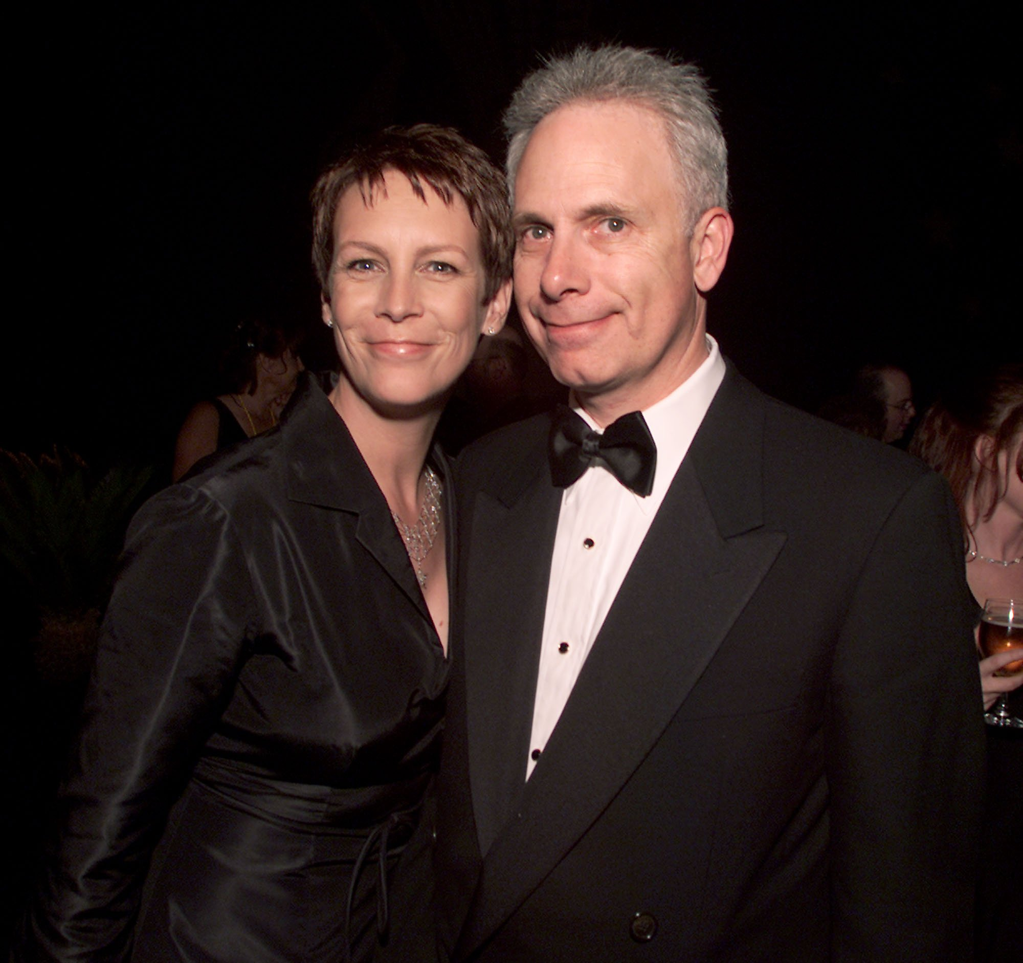 Jamie Lee Curtis and husband Christopher Guest at Comedy Central's post-party after the 15th Annual American Comedy Awards were taped at Universal Studios, Los Angeles, California on April 22, 2001. | Source: Getty Images.