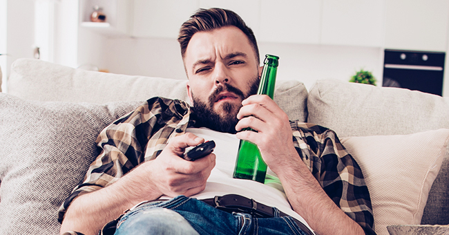 Daily Joke: Man Sits down in Front of TV and Asks Wife to Bring Him a Beer 'before It Starts'