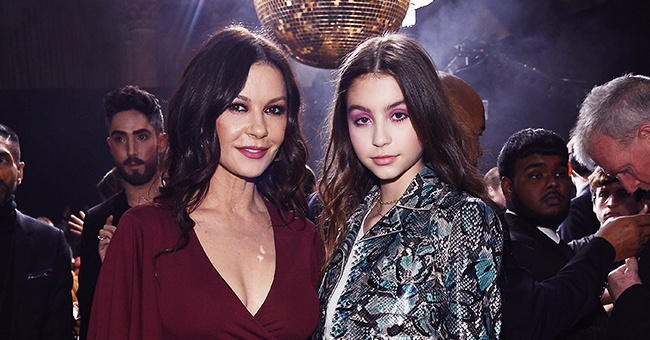 Catherine Zeta-Jones and Her Lookalike Daughter Carys Pose in Matching Suits for a Magazine Cover