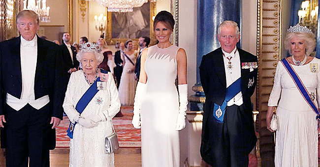 Melania Trump Looks Stately Standing Next to the Queen for the Royal Banquet at Buckingham Palace