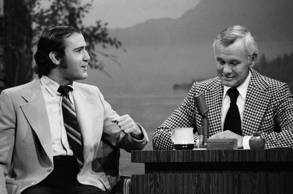 """Andy Kaufman in an interview on """"Tonight's show with Johnny Carson,"""" 1977.    Photo: Getty Images"""