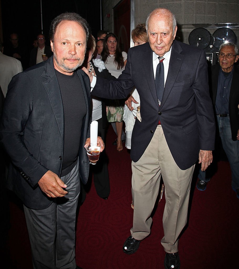 "Billy Crystal and Carl Reiner attend pre-reception for ""It's a Mad, Mad, Mad, Mad World"" at AMPAS Samuel Goldwyn Theater on July 9, 2012 in Beverly Hills, California 