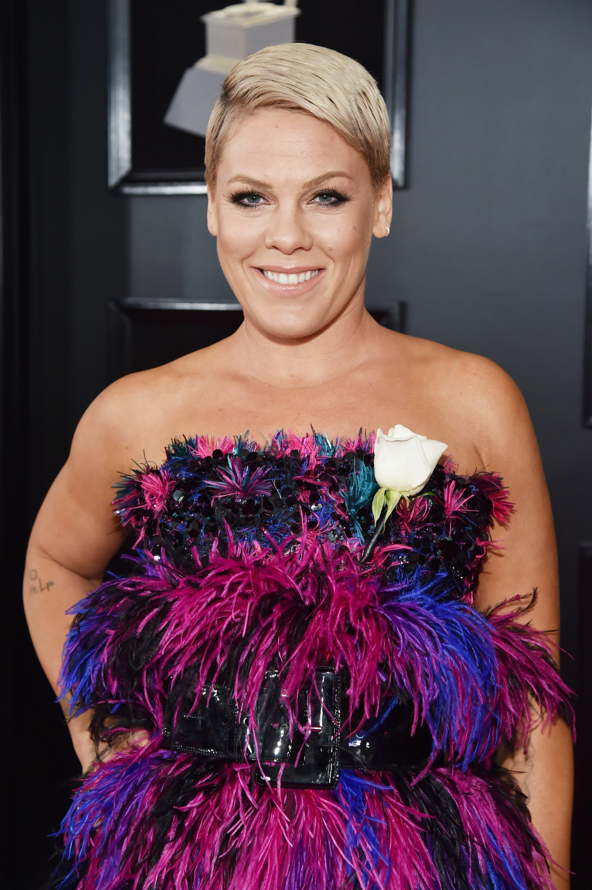 Pink attends the 60th Annual GRAMMY Awards at Madison Square Garden on January 28, 2018. | Photo: Getty Images