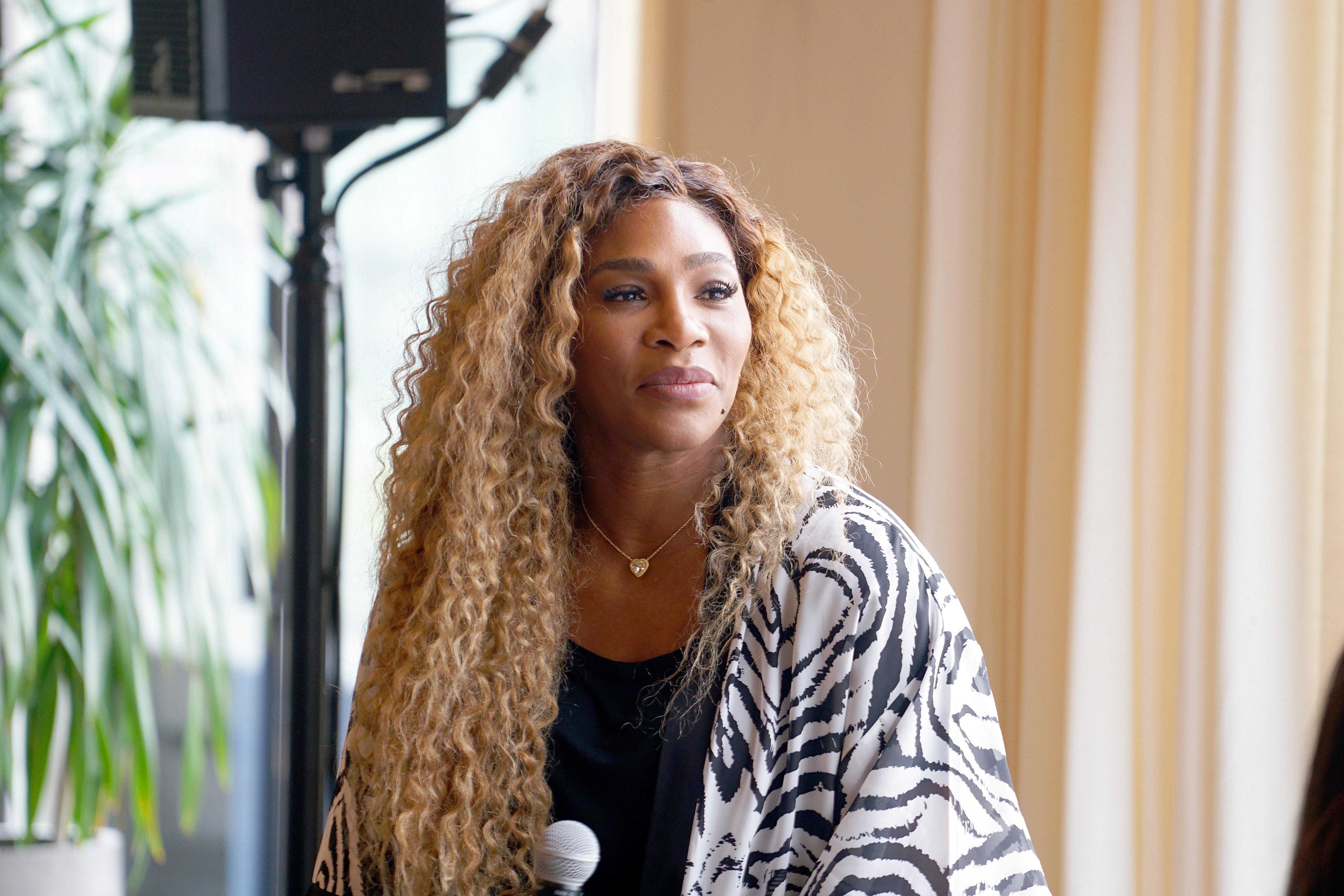 Serena Williams during a speaking engagement on New York Fashion Week in September 2019. | Photo: Getty Images