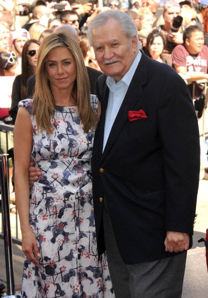 Jennifer Aniston and John Aniston at 6270 Hollywod Blvd on February 22, 2012 in Hollywood, California. | Photo: Getty Images