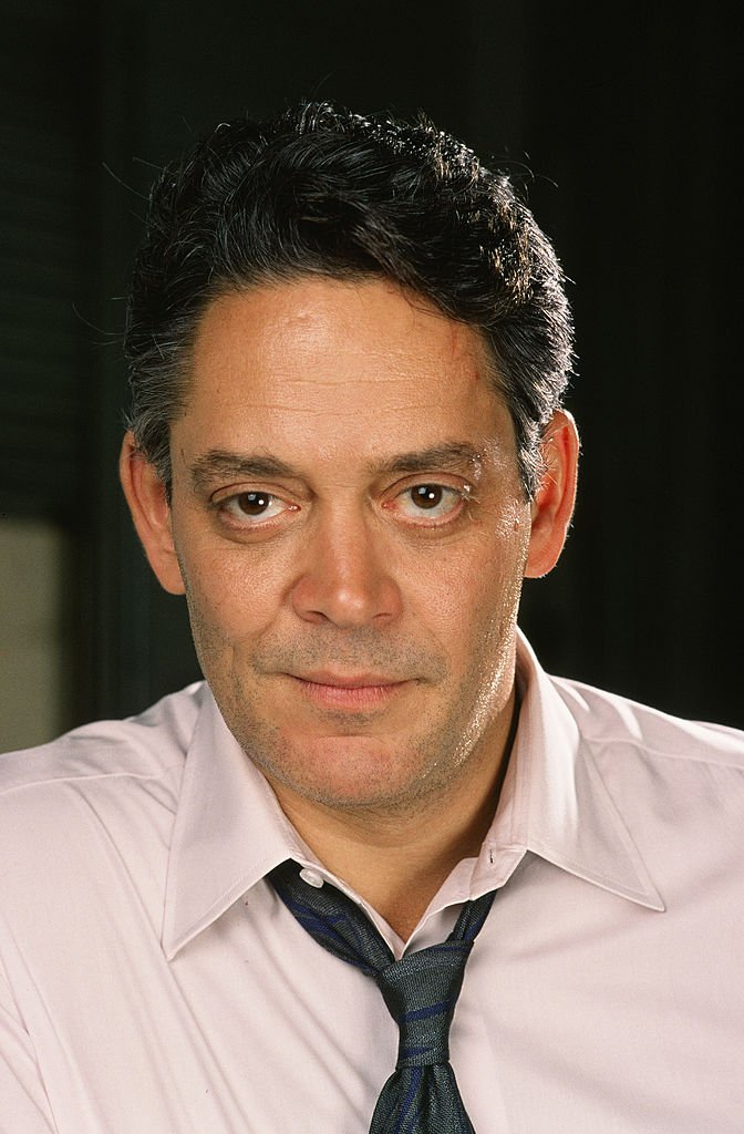 Stage and film actor Raul Julia poses during a 1988 Santa Monica, California, photo portrait session. | Getty Images