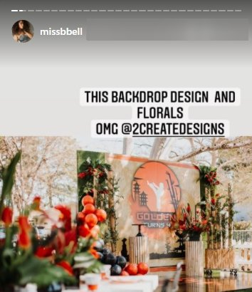 The backdrop design for Nick Cannon's son Golden's 4th birthday party   Photo: Instagram/missbell