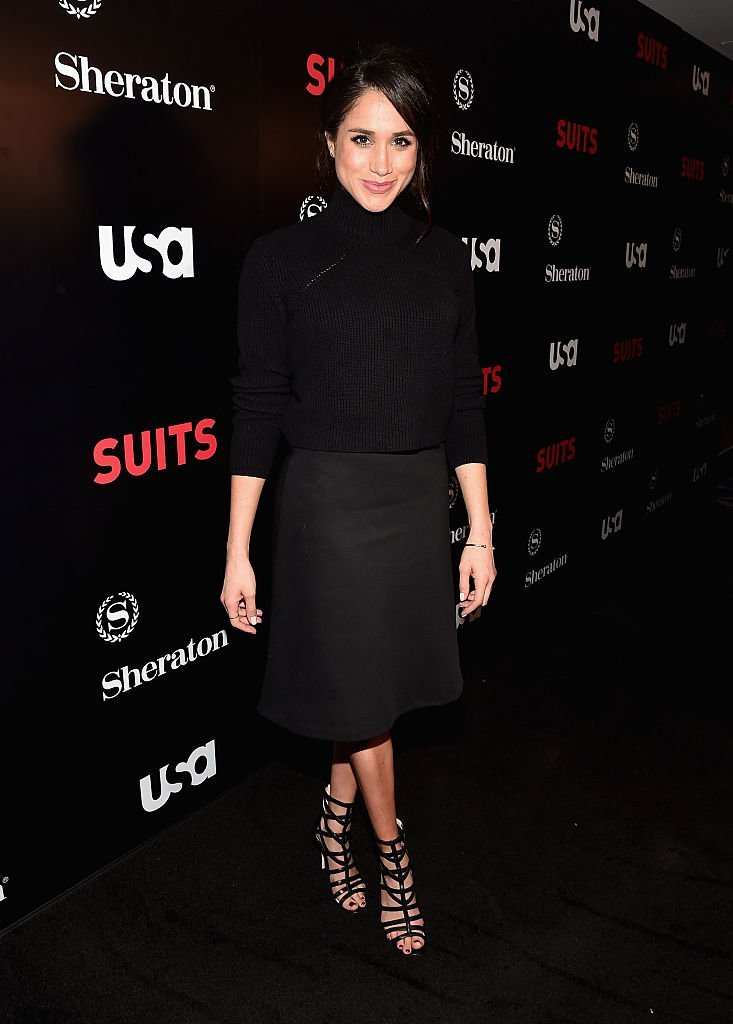 "Meghan Markle attends the premiere of ""Suits"" in Los Angeles Downtown Hotel on January 21, 2016 