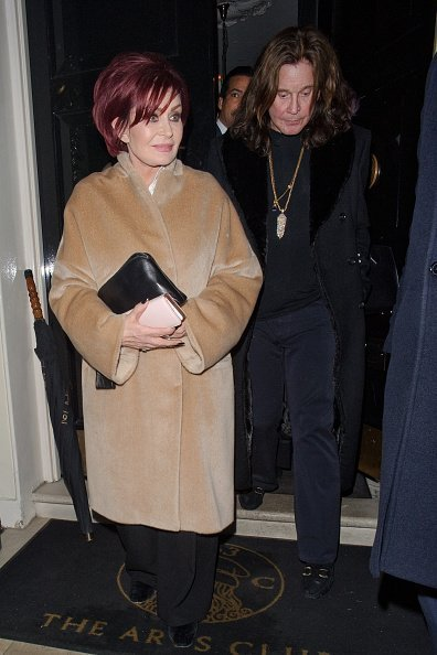 Sharon Osbourne and Ozzy Osbourne are seen leaving the Arts Club Mayfair on December 2, 2017 | Photo: Getty Images