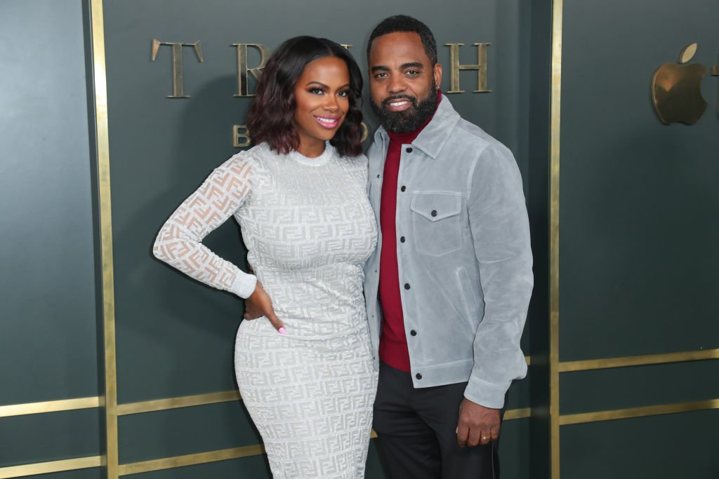 "Kandi Burruss and Todd Tucker attend the premiere of Apple TV+'s ""Truth Be Told"" 