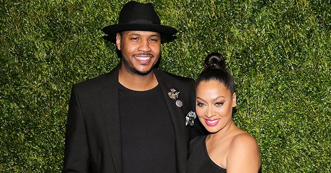 Carmelo Anthony's Wife La La Pours Her Curves into a Skintight Pink Dress in a Recent Photo