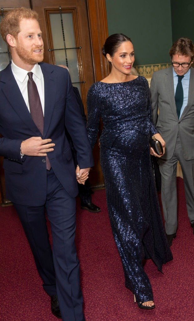 """Prince Harry, Duke of Sussex and Meghan Markle, Duchess of Sussex attend the Cirque du Soleil Premiere Of """"TOTEM"""" at Royal Albert Hall on January 16, 2019 in London, England 