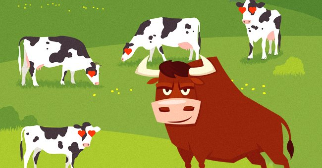 The other bulls on the farm were scared of the new super bull. | Photo: Shutterstock