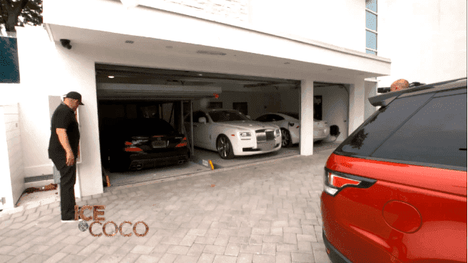 Coco Austin and Ice-T's garage in their mansion | Source: YouTube/Cocosworld