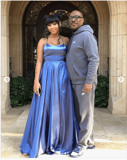 Eddie and Bella Murphy posing together before heading to prom | Source: Instagram/Nicole Murphy