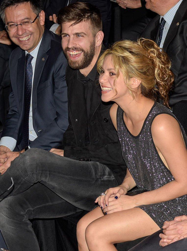Piqué y Shakira sonriendo.| Fuente: Getty Images