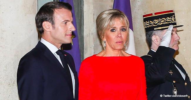 Brigitte Macron met en valeur sa taille fine dans une robe rouge pour la rencontre avec le président chinois
