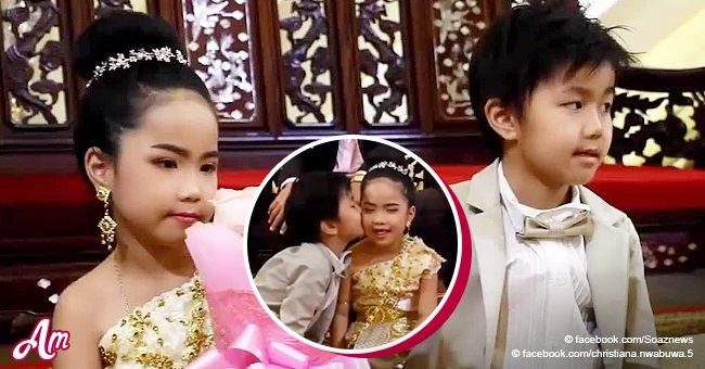 Mellizos de seis años se casan porque sus padres creen que fueron almas gemelas en otra vida