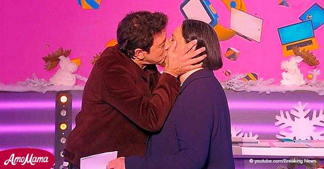 Patrick Bruel embrasse Danielle Moreau sur scène et crée de l'inconfort (Vidéo)