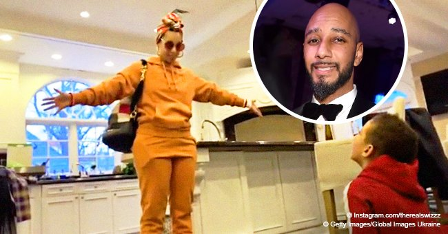 Swizz Beatz 'passes out' from son's reaction to news that Alicia Keys is going to host the Grammys