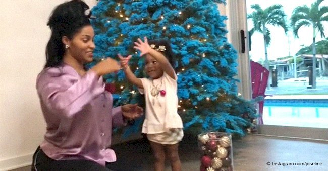 Joseline Hernandez decorates Christmas tree with her & Stevie J's daughter in adorable video