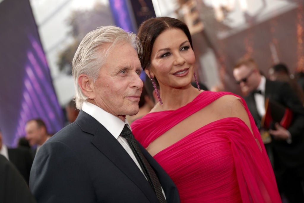 Michael Douglas and Catherine Zeta-Jones on the red carpet during the 71st Annual Primetime Emmy Awards, 2019, Los Angeles, California. | Photo: Getty Images