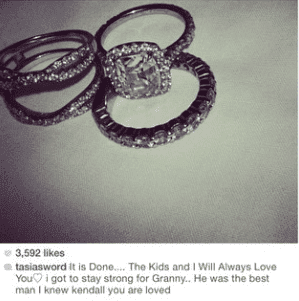 Screen shot of Fantasia Barrino's post indicating a split from husband Kendall Taylor/ Instagram/TasiasWord
