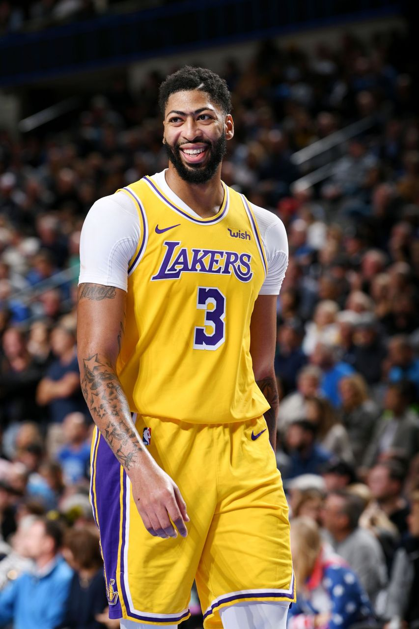 Anthony Davis #3 of the Los Angeles Lakers looks on during the game against the Dallas Mavericks on November 1, 2019 at the American Airlines Center in Dallas, Texas. | Source: Getty Images