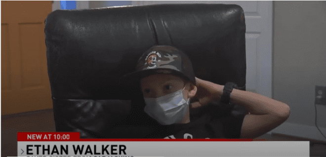 Ethan Walker during an interview with ABC 3340 News. | Photo: ABC 3340 News