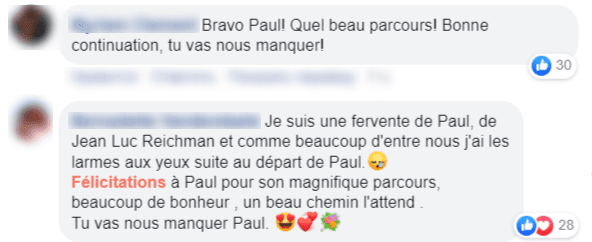 Capture d'ecran des commentaire des fans | Photo : Facebook