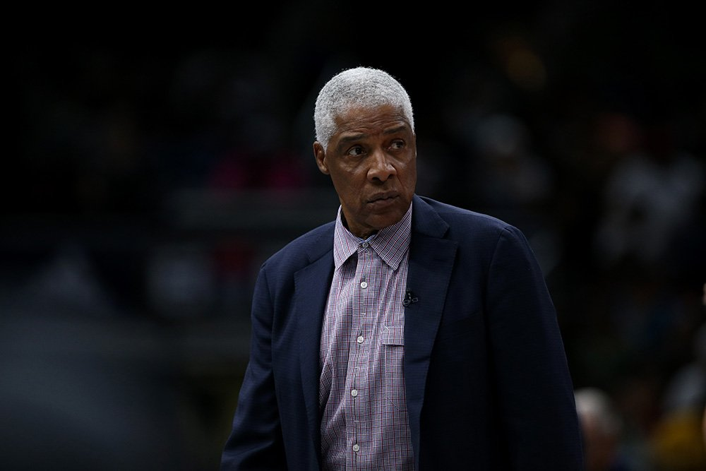 Julius Erving of Tri State watches the action against the Ball Hogs during week two of the BIG3 three on three basketball league at United Center on June 29, 2018 in Chicago, Illinois. I Image: Getty Images.