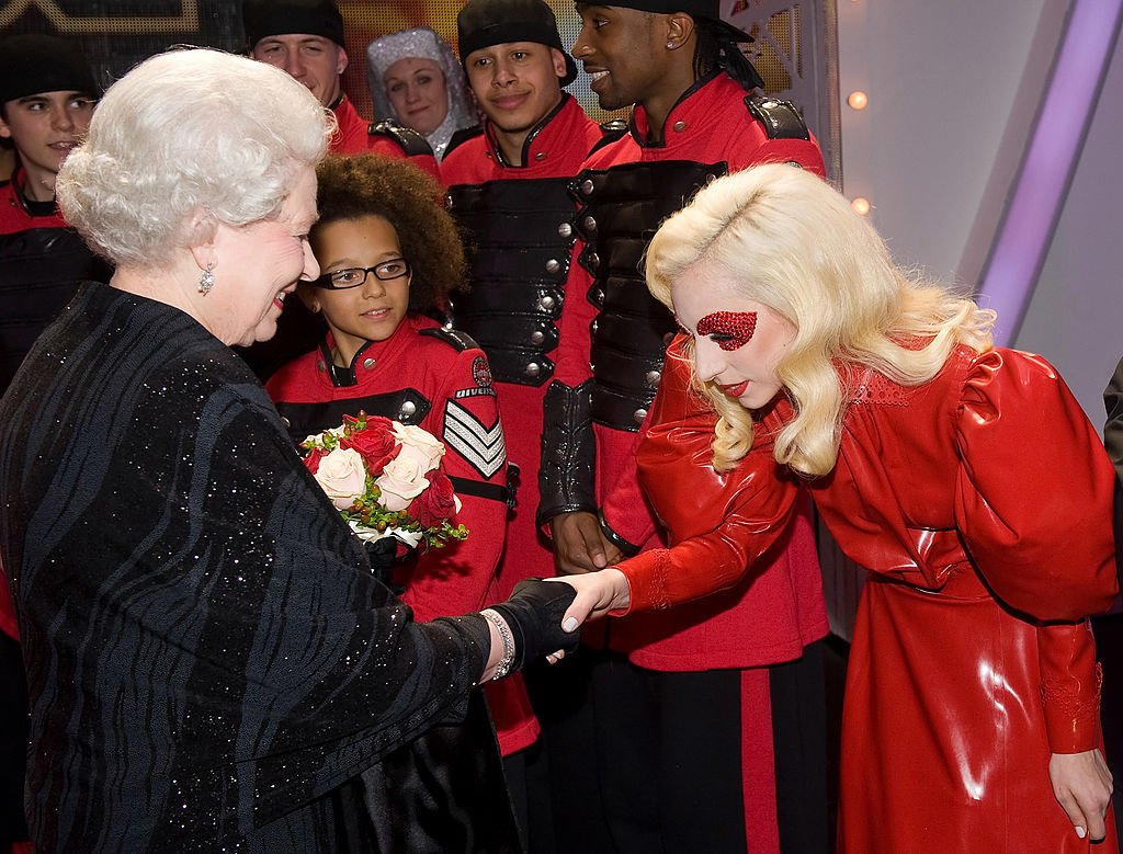 Queen Elizabeth II met singer Lady Gaga following the Royal Variety Performance, in Blackpool, England, on December 7, 2009..   Source: Getty Images