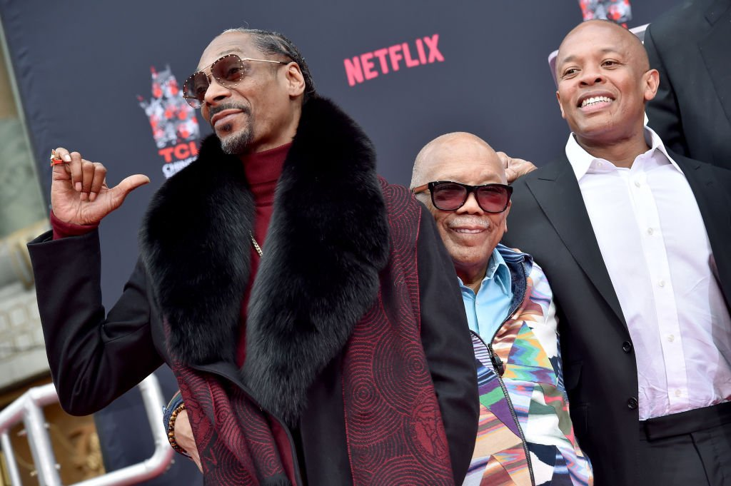Snoop Dogg, Quincy Jones and Dr. Dre attend the Hand and Footprint Ceremony honoring Quincy Jones| Photo: Getty Images