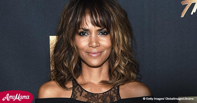 Halle Berry, 51, proves she's an ageless beauty as she flashes her fit body in black lingerie