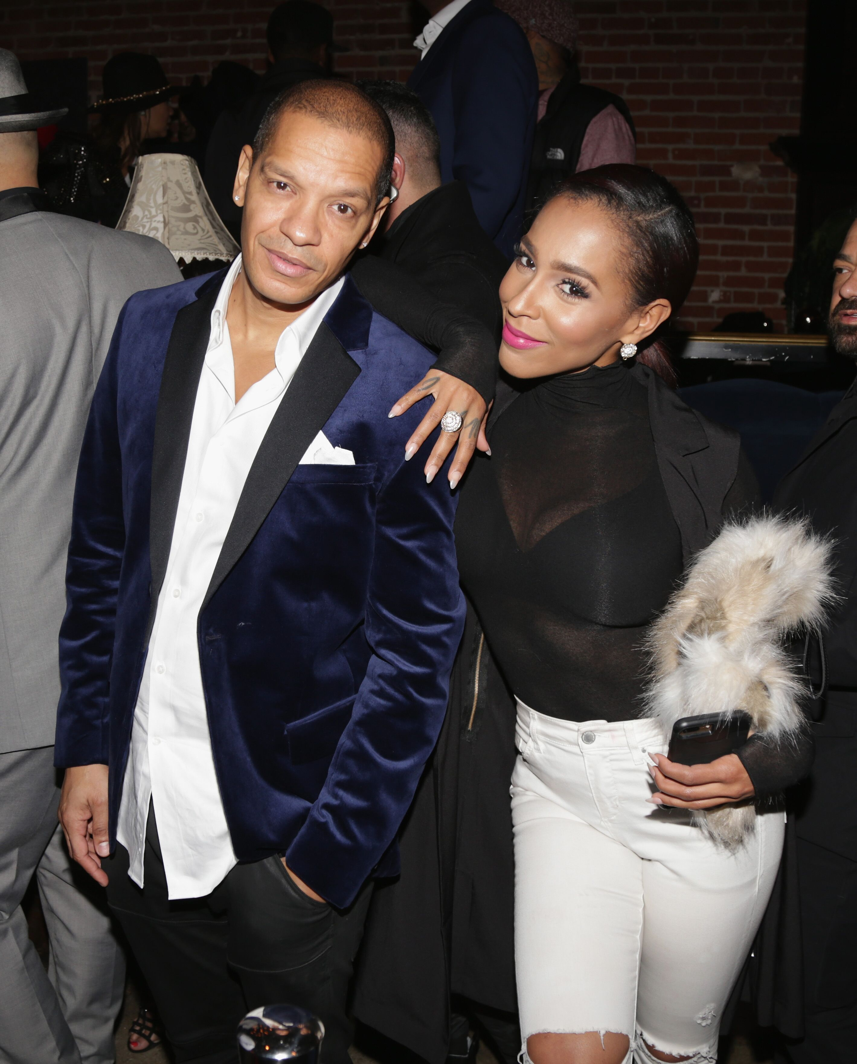 Peter Gunz and Amina Buddafly at the unveiling of New Edition's  star On The Hollywood Walk Of Fame/ Source: Getty Images